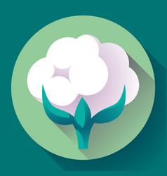 flat cotton icon vector image