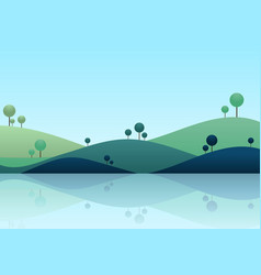 Natue landscape background mountain scenery vector