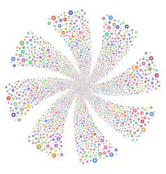 Pharmacy fireworks swirl rotation vector