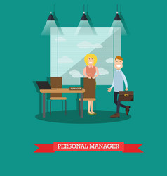 Personal manager concept in vector