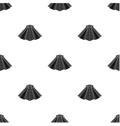 chichen itza icon in black style isolated on white vector image
