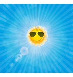 Abstract natural background with funny sun vector image