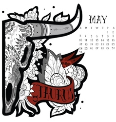 Taurus tattoo vector