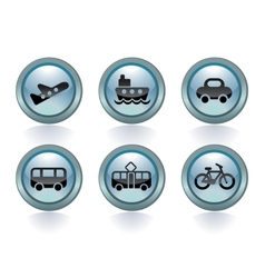 Types of transport vector image