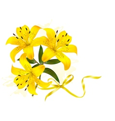 Holiday yellow flowers background vector