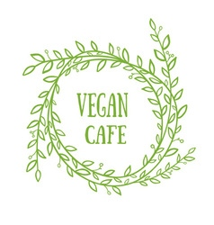 Vegan cafe vector