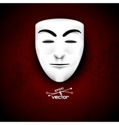 Mask anonymous on red vector