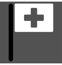 Hospital flag icon vector