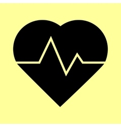 Heartbeat sign flat style icon vector