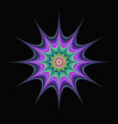 Abstract colorful star fractal vector