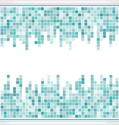 Abstract aqua mosaic square background vector