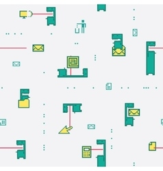 Pattern Computer Virus vector image