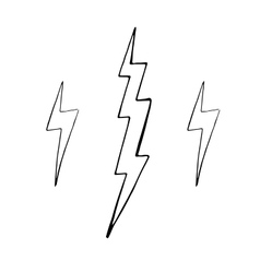 Set of simple lightning doodle group of hand vector