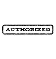 Authorized watermark stamp vector