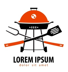 Barbecue logo design template Grill or vector image