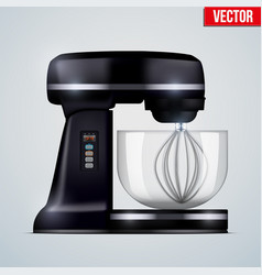 Black stand mixer vector