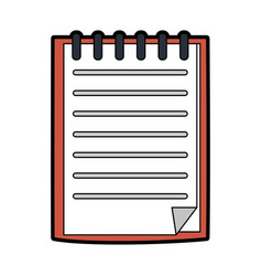 Blank notepad stationery tool icon image vector