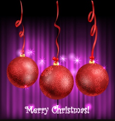 Christmas balls with ornament vector image vector image