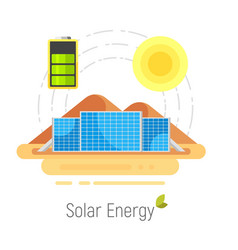 Ecology solar energy vector