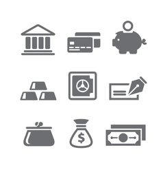 Finance and money icons vector image vector image