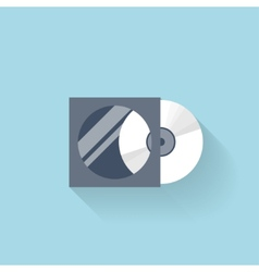 Flat compact disk icon for web vector image vector image
