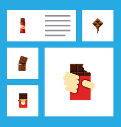 Flat icon bitter set of sweet chocolate bar vector