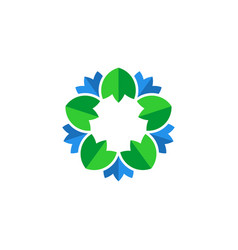 Flower leaf vector