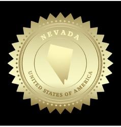 Gold star label nevada vector