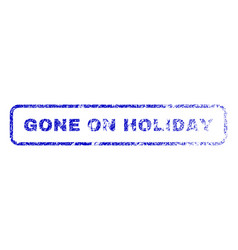 Gone on holiday rubber stamp vector