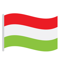 isolated hungarian flag vector image