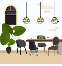Meeting dining room modern chair in empty working vector