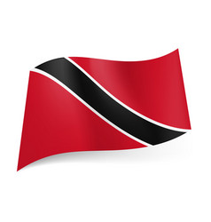 National flag of trinidad and tobago black vector
