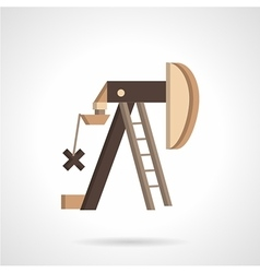 Oil pump jack flat icon vector image