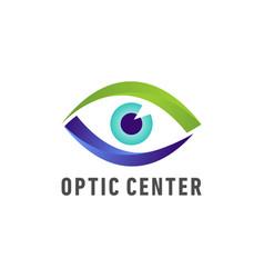 optic medical eye logo vector image vector image