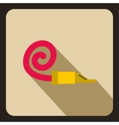 Party blower icon flat style vector