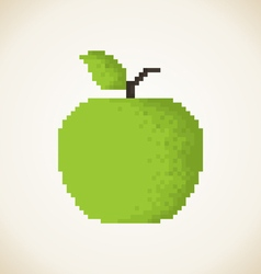 Pixel Apple3 vector image