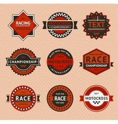 Racing badges - vintage style vector image