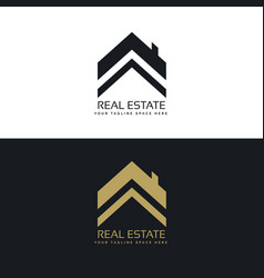 Real estate logo design concept vector