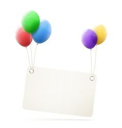 Realistic colorful balloons vector