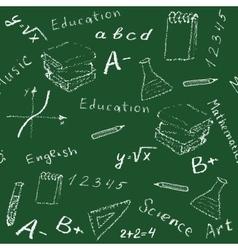 seamless school board vector image vector image