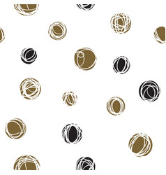 Sloppy circles random doodle dots seamless pattern vector
