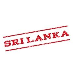 Sri Lanka Watermark Stamp vector image vector image