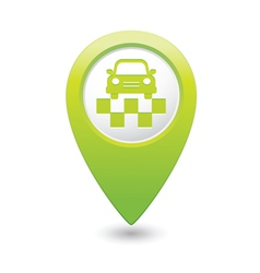 taxi symbol map pointer green vector image vector image