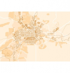 Vector map of the city vector