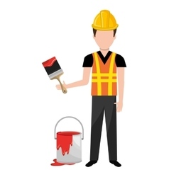 Painter worker man icon vector