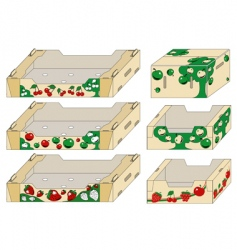 packing container vector image