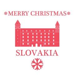 Merry christmas slovakia vector