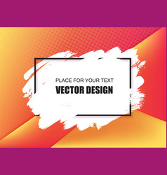 Universal banner frame place for text vector