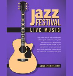 jazz festival music background vector image