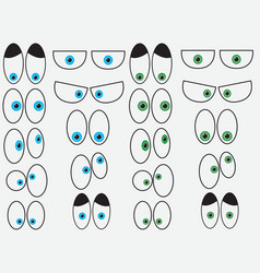 Cartoon eyes vector image